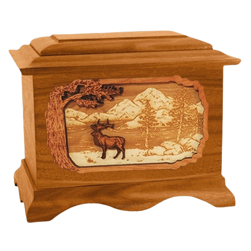 Elk Mahogany Cremation Urn