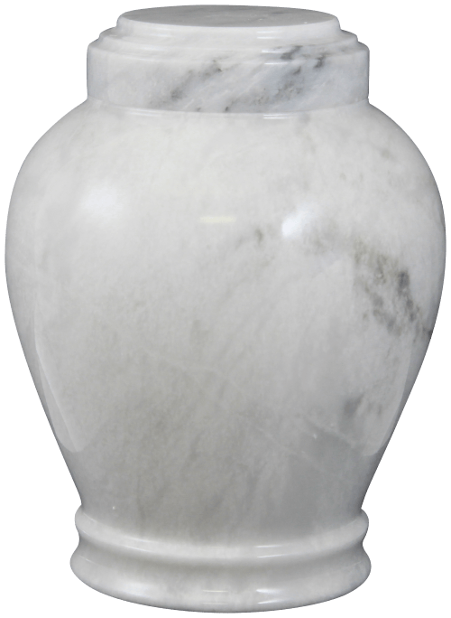 Embrace Antique White Marble Cremation Urn