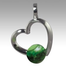 Emerald Amore Cremation Ash Pendant