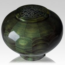 Emerald Celtic Wood Urn