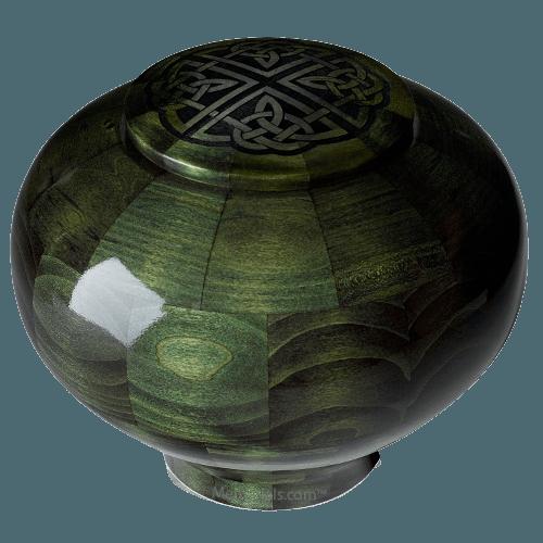 Emerald Celtic Wood Urn