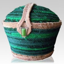 Emerald Cotton Cremation Urn