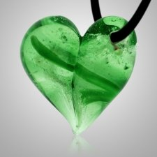 Emerald Cremation Ash Pendant