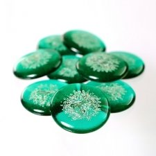 Emerald Glass Pet Cremation Touchstones