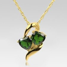 Emerald Hearts Cremation Jewelry II