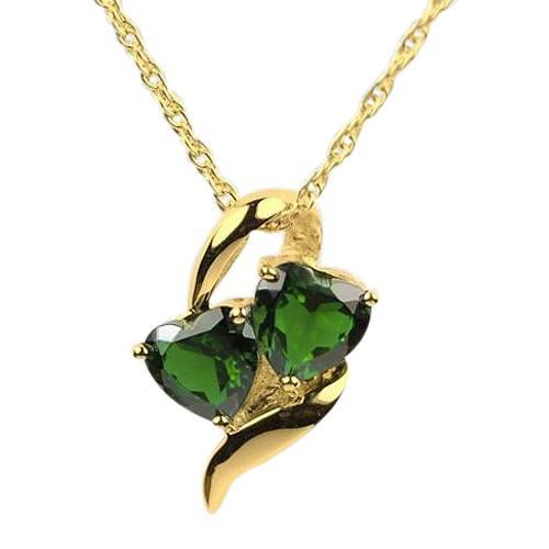 Emerald Hearts Cremation Jewelry II
