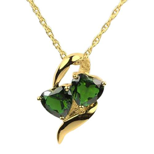 Emerald Hearts Cremation Jewelry IV