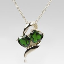 Emerald Hearts Cremation Jewelry