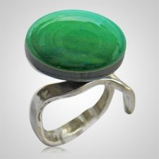 Emerald Memorial Ashes Ring