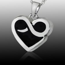 Endless Heart Cremation Pendant III