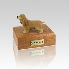 English Cocker Blond Small Dog Urn