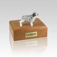 English Setter Blue Belton Small Dog Urn