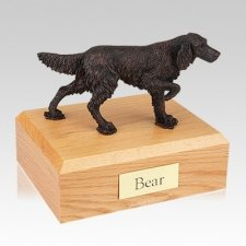 English Setter Bronze Large Dog Urn