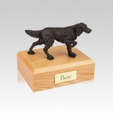 English Setter Bronze Small Dog Urn