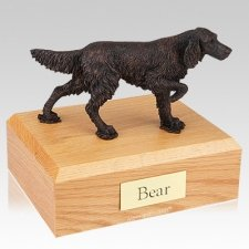 English Setter Bronze Dog Urns