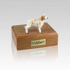English Setter Orange Belton Small Dog Urn