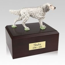 English Setter Standing Large Dog Urn