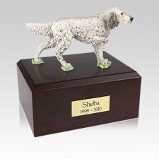 English Setter Standing Medium Dog Urn