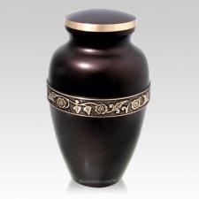 Espresso Floral Cremation Urn