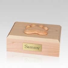 Eternal Paw Maple Wood Small Dog Urn