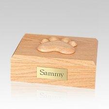 Eternal Paw Oak Wood Small Dog Urn