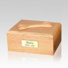 Eternal Bone Oak Wood Medium Dog Urn