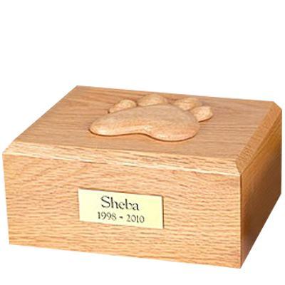 Eternal Paw Oak Wood Medium Dog Urn