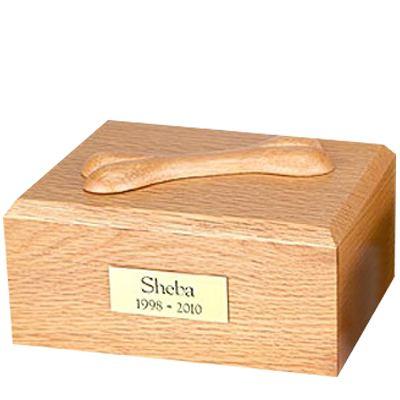 Eternal Bone Oak Wood Large Dog Urn
