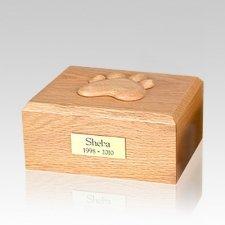 Eternal Paw Oak Wood Large Dog Urn