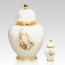 Eternal Praying Hands Cremation Urns