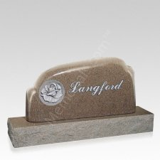 Eternal Rose Companion Granite Headstone