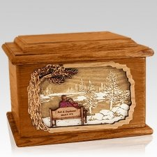 Eternally Mahogany Memory Chest Cremation Urn