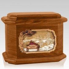 Eternally Mahogany Octagon Cremation Urn