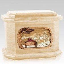 Eternally Maple Octagon Cremation Urn