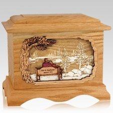 Eternally Oak Cremation Urn