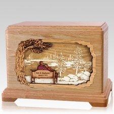Eternally Oak Hampton Cremation Urn
