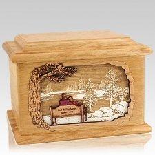 Eternally Oak Memory Cremation Urn
