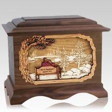 Eternally Walnut Cremation Urn