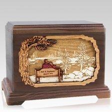 Eternally Walnut Hampton Cremation Urn