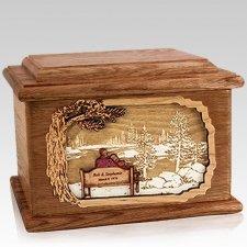 Eternally Walnut Memory Cremation Urn