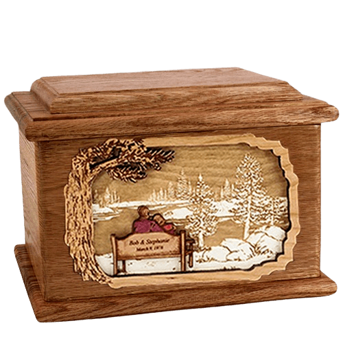 Eternally Walnut Memory Cremation Urn