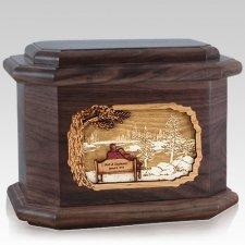 Eternally Walnut Octagon Cremation Urn