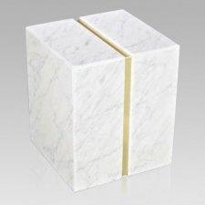 Eternitas Bianco Carrera Marble Companion Urn