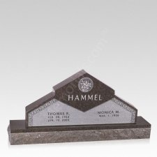 Eternity Companion Granite Headstone