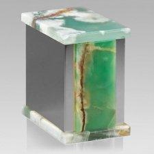Ethinity Silver Green Onyx Urn