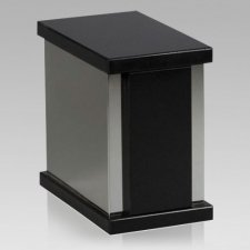 Ethinity Silver Nero Granite Cremation Urn