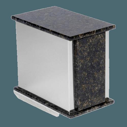 Ethinity Silver Verde Granite Urn