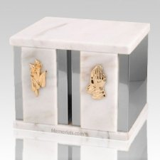 Ethinity Silver White Danby Marble Companion Urn