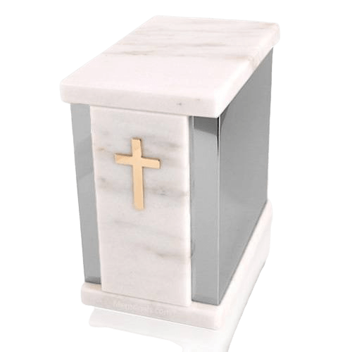 Ethinity Silver White Danby Marble Urn