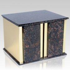 Ethinity Tan Brown Granite Companion Urn